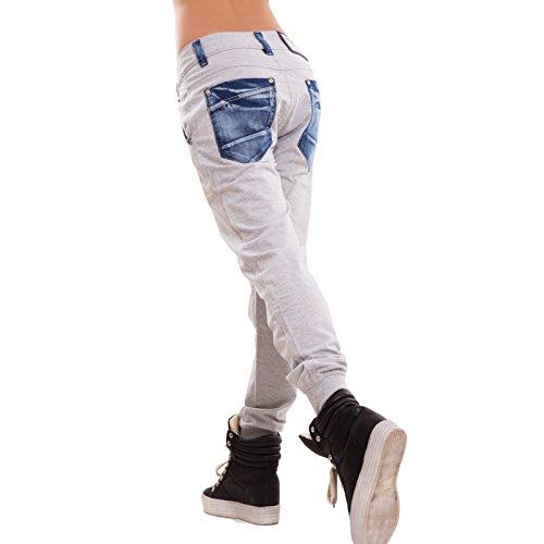 Dettagli Donna Nuovi Polsini K5802 Grigio Cavallo Jeans Toocool Sexy Basso Harem Chiaro Pantaloni Tuta 6wWq50R