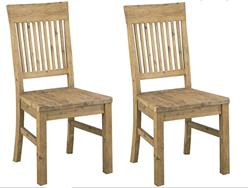 Modus Furniture 8FM266 Autumn Solid Wood Dining Chair, 2-Pack (Acacia Furniture)