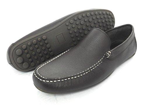 Zerimar Herren Leder Schuhe Mokassin Herren Lederschuh Schuh Leder Casual Schuh Täglicher Gebrauch Schöne Leder Schuhe für Den Mann Farbe Braun Größe 42