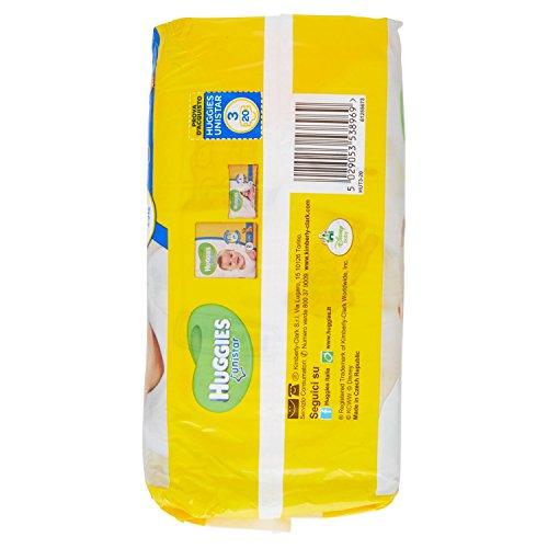 Huggies - Unistar - Pañales - Talla 3 (4 - 9 kg) - 20 pañales: Amazon.es: Salud y cuidado personal