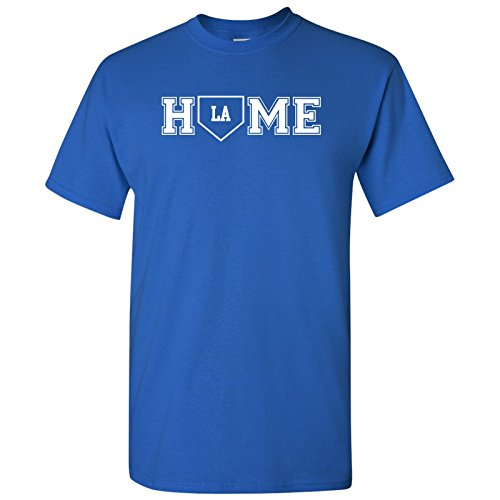 UGP Campus Apparel Los Angeles Baseball Home Plate - Team Sports, Home Run, California T-Shirt - 2X-Large - Los Angeles Royal