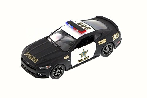 - Kinsmart 2015 Ford Mustang GT Police, Black 5386DP - 1/38 Scale Diecast Model Toy Car but NO BOX
