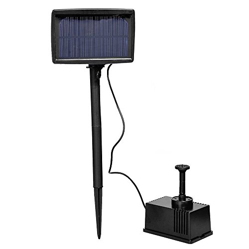 TOOGOO(R) Solar Panel Powered Fountain Garden Pool Pond Submersible Water Pump 5m by TOOGOO(R)