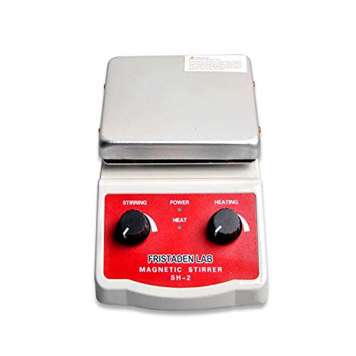 Fristaden Lab SH-2 Laboratory Magnetic Stirrer Hot Plate Mixer, 2,000mL, 100~1600RPM, 180W Heating Power 350°C Max Independently Controls Temperature and Speed 1 Year Warranty by Fristaden Lab (Image #3)
