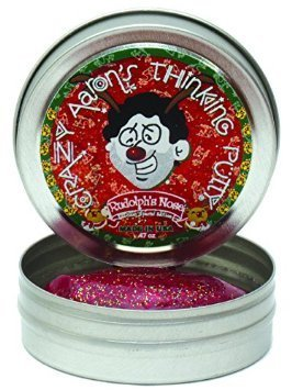 [Crazy Aaron's Thinking Putty Rudolph's Nose Holiday Special Edition Mini 2 inch] (Nose Putty)
