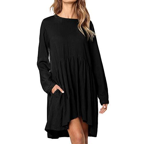 Sweatshirt Dress Elegant Womens Chanyuhui Prom Pockets Tops Tunic Dresses Sleeve Solid Shirts Long Black Bodycon Dresses wSfOY