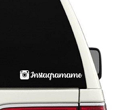 Instagram Username Car Decal- Branding/ Advertising Car Sticker - Shop Instagram