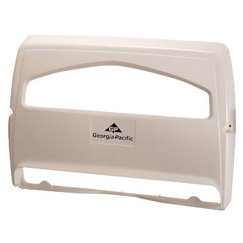 Toilet Seat Cover Dispenser - Georgia Pacific 57710 Safe-T-Gard 1/2 Fold Toilet Seat Cover Dispenser, White