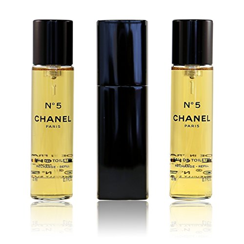 015225bf904 Chanel No 5 Eau de Toilette Purse Spray 3 x 20ml  Amazon.co.uk  Beauty