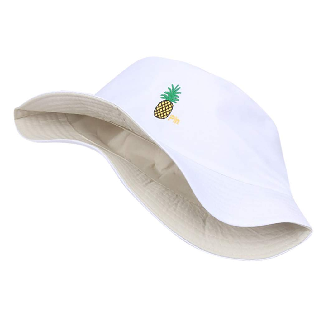 Cuekondy Pineapple Print Bucket Hat Fruit Pattern Fisherman Hats Cute Sun Hat Summer Cap For Travel Outdoor Hiking