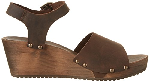 Sanita Olisa Wedge Flex Sandal - Sandalias con cuña Mujer Braun (Antique Brown)