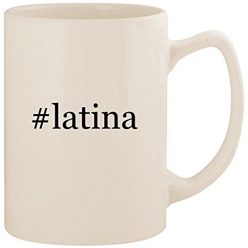 #latina - White Hashtag 14oz Ceramic Statesman Coffee Mug Cup