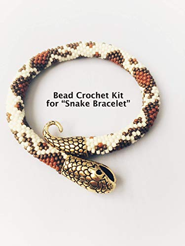 Bead crochet DIY Kit, Modern Snake Bracelet, Do It Yourself, Gift for Crafter, DIY Jewelry Making Kit, Beading Kit, DIY Bracelet Kit