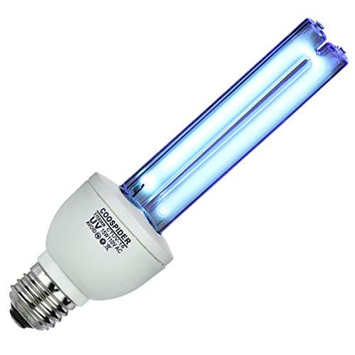 Medical Bulb Lamp - UV Germicidal Bulb Ultraviolet Light Lamp Screw Socket E26 15w 110v Covers up to 300sq ft. UVC Ozone Free