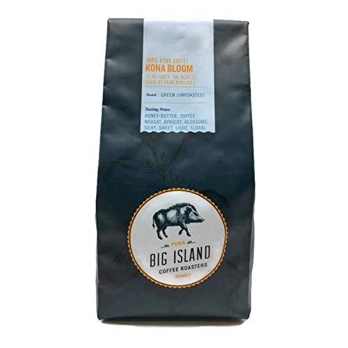 100% Kona green coffee beans - 'Extra Fancy' unroasted Hawaiian Kona green bean (16 oz), from Big Island Coffee Roasters
