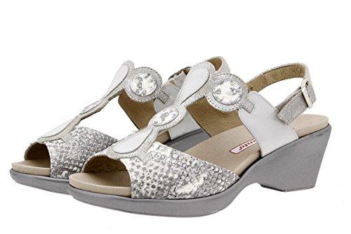 1857 Semelle Piesanto Cuir Sandales En Amples Natural Femme Chaussure Amovible À Confort Confortables qBBXTw1
