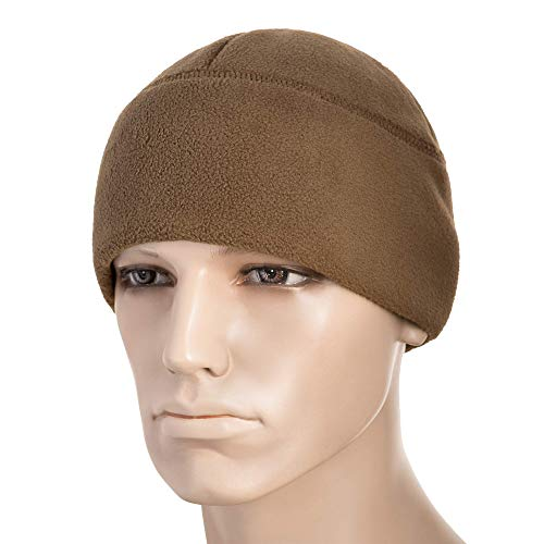 Beanie Fleece Brown - M-Tac Winter Hat Windproof Fleece 380 Mens Watch Cap Military Skull Cap Beanie (Coyote Brown, Large)