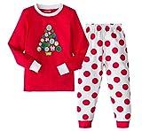 AMGLISE Christmas Pajamas Set Christmas Tree Cotton Pajamas for Boys Girls Kids Pjs Toddler Sleepwear 6