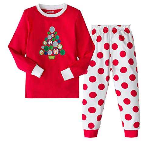 AMGLISE Christmas Pajamas Set Christmas Tree Cotton Pajamas for Boys Girls Kids Pjs Toddler Sleepwear 8 ()