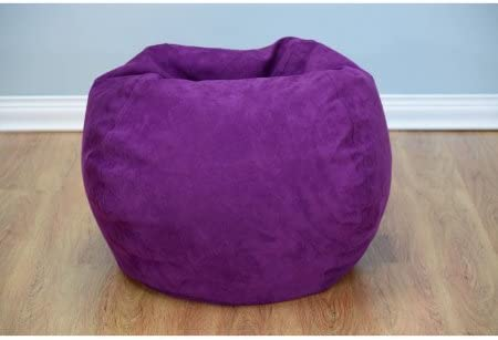 Bean Bag Chair Large Microsuede Purple