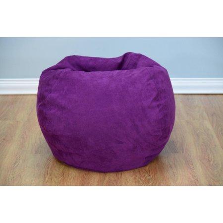Bean Bag Chair Large Microsuede Purple