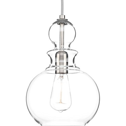 Progress Lighting P5334-09 Staunton One-Light Pendant, Brushed Nickel