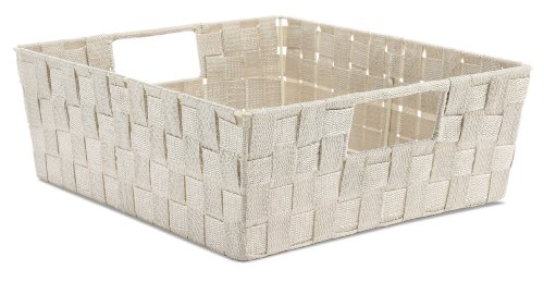 Whitmor Woven Strap Shelf Tote Latte