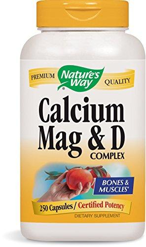 Nature's Way Calcium, Magnesium and Vitamin D, 250 Capsules