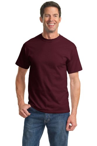 Port & Company Cotton Short-Sleeve T-Shirt (PC61) Available in 52 Colors 3X Athletic Maroon