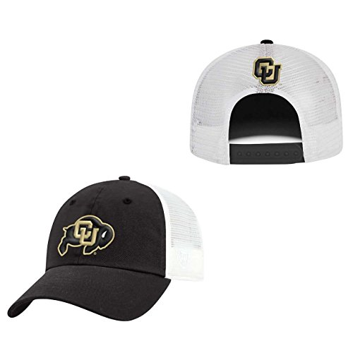 Top of the World Colorado Buffaloes Adult NCAA Team Spirit Relaxed Fit Meshback Hat - Team Color, -