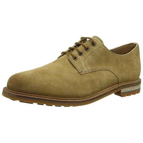 chollos oferta descuentos barato Clarks Foxwell Hall Zapatos de Cordones Derby Beige Dark Sand Suede Dark Sand Suede 44 5 EU