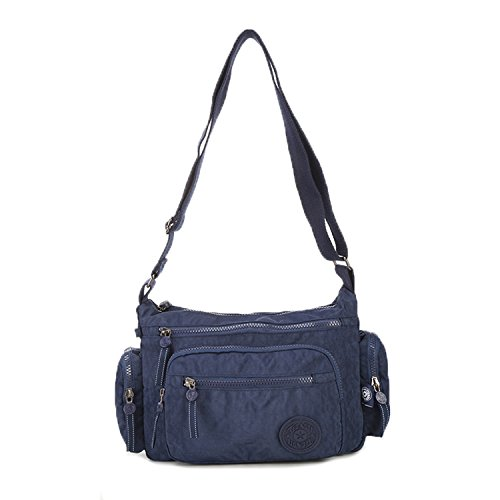 Foino Waterproof Shoulder Bag Women Cross Body Bag Lightweight Messenger Bag Travel Crossbody Bag Fashion Casual Side Pack for Girls Satchel Blue 1