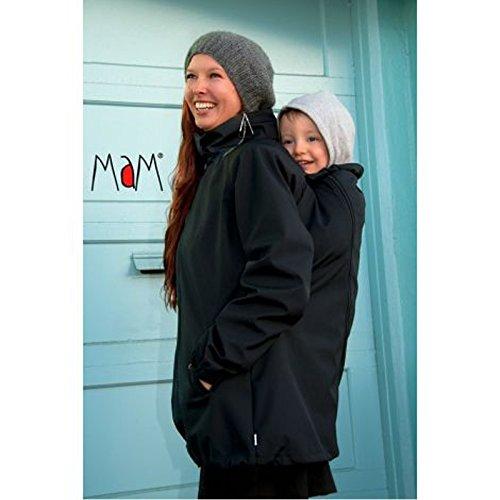 MAM Manduca - Anorak de mamá para cubrir bebé negro negro Talla:M