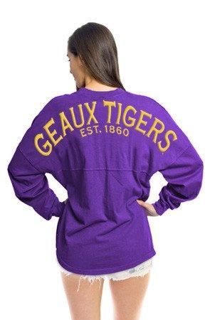 - Elite Fan Shop LSU Geaux Tigers Womens Gameday Shirt - M - purple