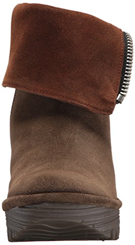 FLY London Women's Yex668fly Mid Calf Boot, Sludge/Camel Oil Suede, 41 M EU (10 US) by FLY London (Image #4)