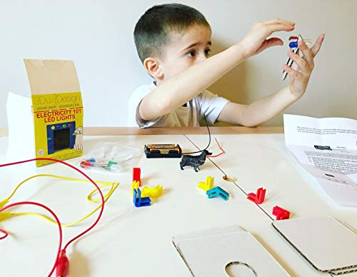 Cardboard Construction Kit with LED Lighting - Educational with Over 900 Pieces, Perfect for Learning STEM, STEAM, and Circuits in School and at Home by 3DuxDesign GOBOXPRO10 by 3DUX DESIGN (Image #4)