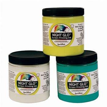 Speedball Night-Glo Fabric Screen Printing Ink white