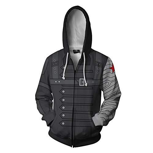 Winter Soldier Costumes Hoodie - Super Hero Hoodie Super Hero Costume