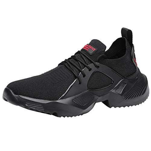 iHPH7 Shoes Cross Trainer Outdoor Sports Shoes Casual Fashion Men Sneakers Mesh Running Men (44,Black)