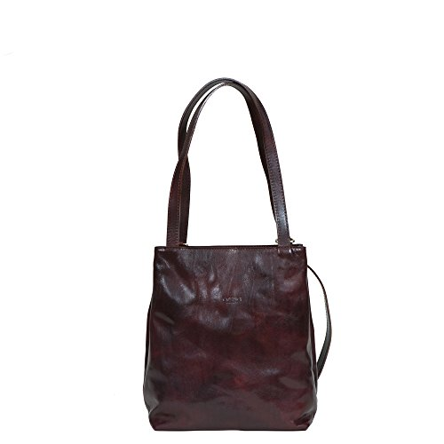 Bag Leather Handbag Italian for Chocolate Women Shopping Medici I Carino Backpack Tote wE0YSqx4I