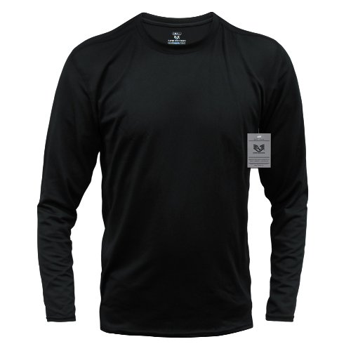 定番  Rapdom ブラック Tacticalパフォーマンス長袖クルーTシャツ Large B00DFKUE30 ブラック Large B00DFKUE30, インナイマチ:62c0da3e --- a0267596.xsph.ru