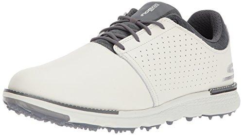 Skechers Performance Men's Go Golf Elite 3 Approach Lx Golf Shoe,Natural/Gray,12.5 M US