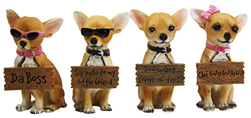 Adorable Chihuahua Holding Humorous Figurines product image