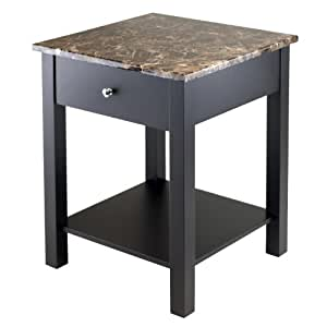 Winsome Wood Torri Accent Table With Drawer Faux Marble Top By Winsome Wood Wall Art