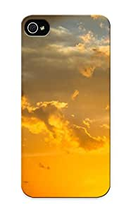 Inthebeauty Top Quality Case Cover For Iphone 5/5s Case With Nice Gold Sunset Sky Appearance