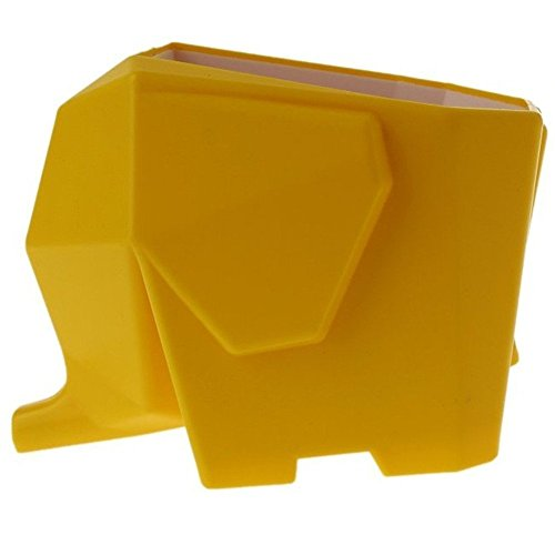 Agile-Shop Cute Elephant Design Plastic Cutlery Drainer Storage Holder Box for Home Kitchen, Bathroom, Toothbrush, Small Knife Accessories (Yellow)