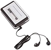 HDE Tape-To-MP3 Retro Cassette Player USB Portable Tape Deck Capture MP3 Audio via USB Includes Headphones and Software HDE-D90-NEW