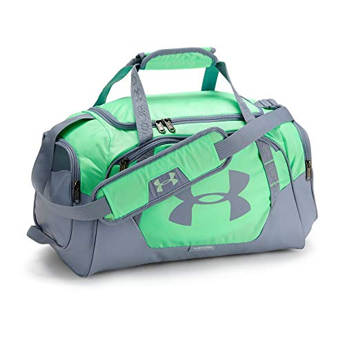 Under Armour Undeniable 3.0 X-Small Duffle Bag, Green Typhoon /Washed Blue