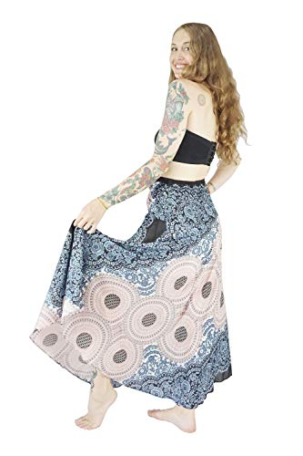 1 Summer Skirt Lining with Bohemian Long Dress Vib Boho White Inner Rose Women's qXIORP