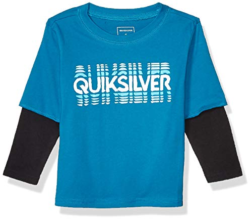 Quiksilver Little Reverb TIME Long Sleeve BOY, Crystal Teal, 4